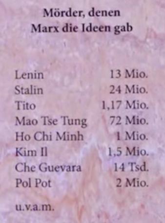 Mörder, denen Marx die Ideen gab.